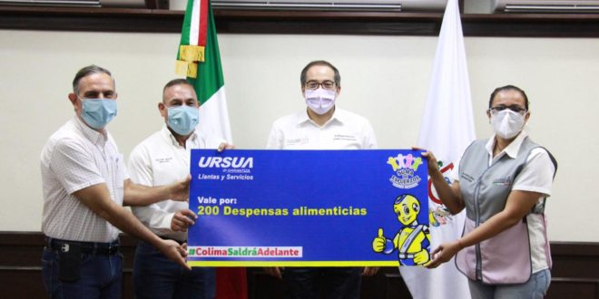 Dona Grupo Ursua 200 despensas a colimenses