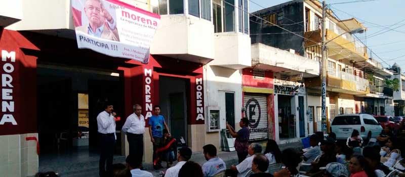 Desconoce MORENA Colima oficina montada por síndico en Manzanillo