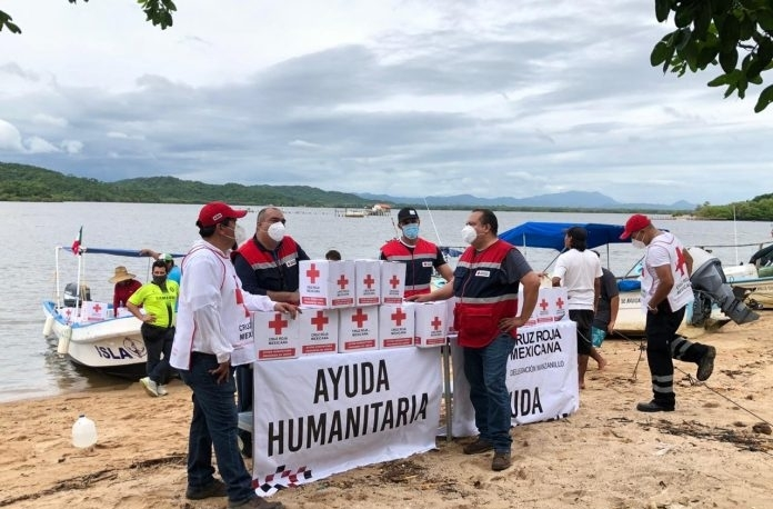 """Cruz Roja Colima se suma a labores de apoyo para damnificados por """"Hernán"""""""
