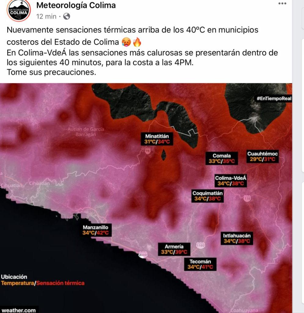 Alcanza Manzanillo temperaturas de hasta 42 grados