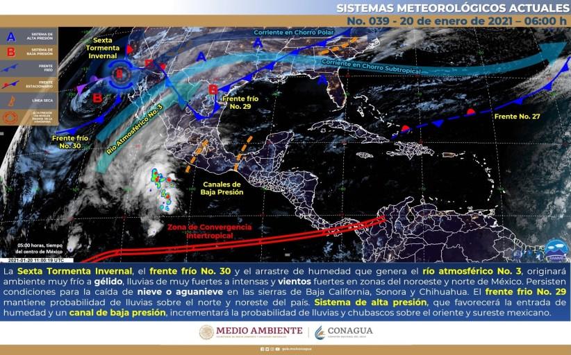 Pronostican lluvias aisladas en Nayarit, Colima, Jalisco y Michoacán
