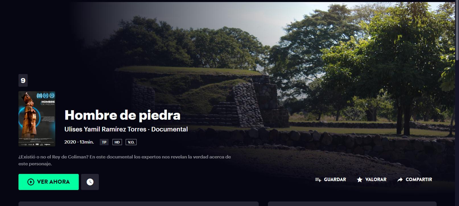 «Hombre de piedra» el documental sobre el Rey Colimán ya está disponible