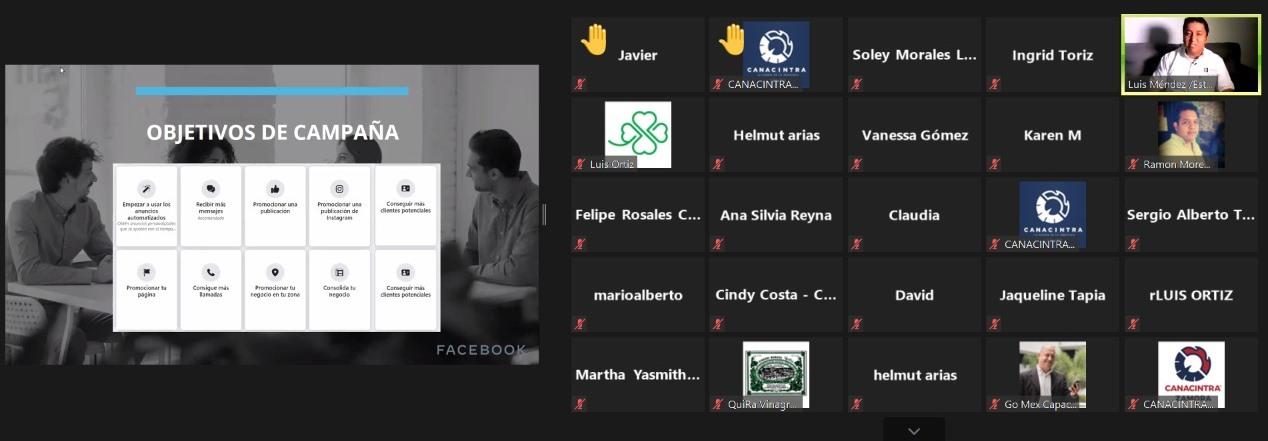 Socios de CANACINTRA Colima se capacitan en Marketing Digital vs Covid 19