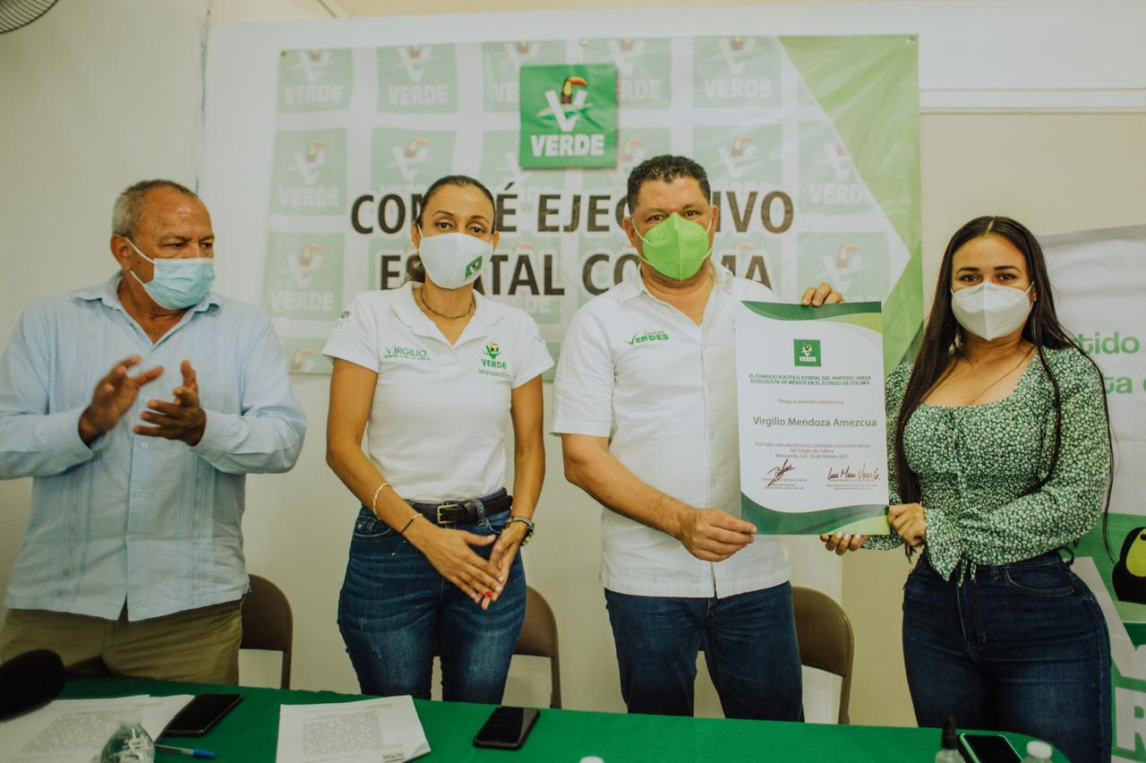 Es Virgilio Mendoza el candidato del PVEM a la gubernatura de Colima