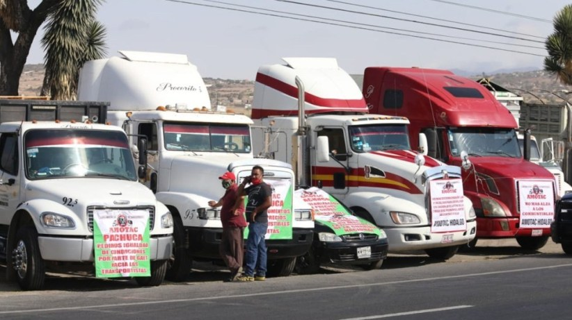 Transportistas se manifiestan en carreteras de todo el país contra inseguridad y extorsiones