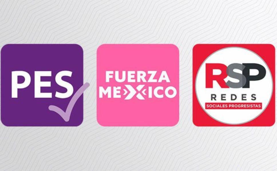 PES, RSP y Fuerza por México perderían registro